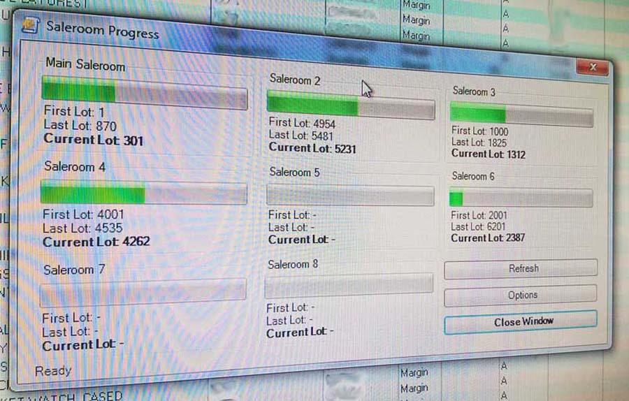 Saleroom Progress Monitor tray application for office
