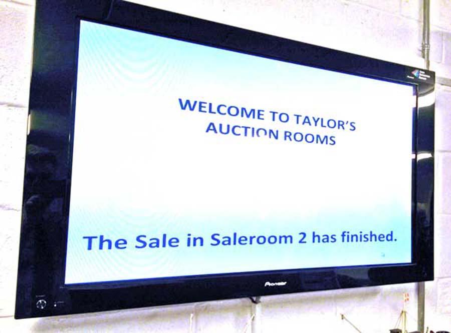 Foyer Information Screen with Saleroom Progress